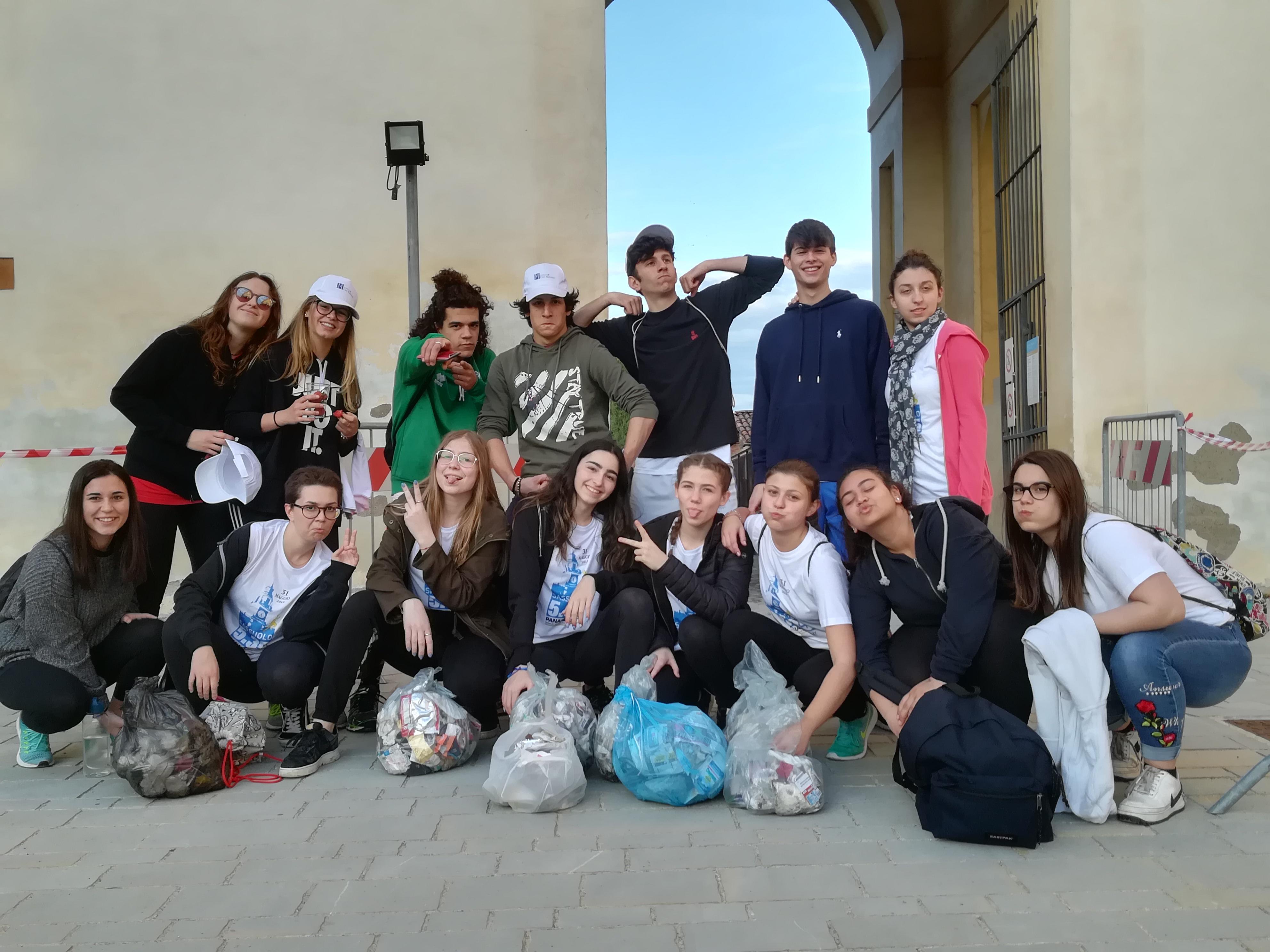 Pulizia parchi studenti Formiggini